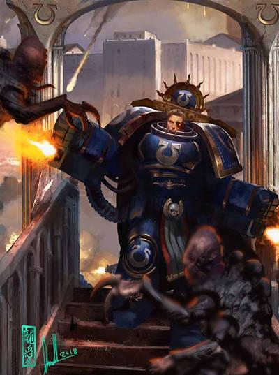 Ultramarines Champion by warhammer40kcampaign