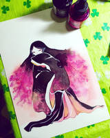 sakura on fuji moutain  by Lovepeace-S
