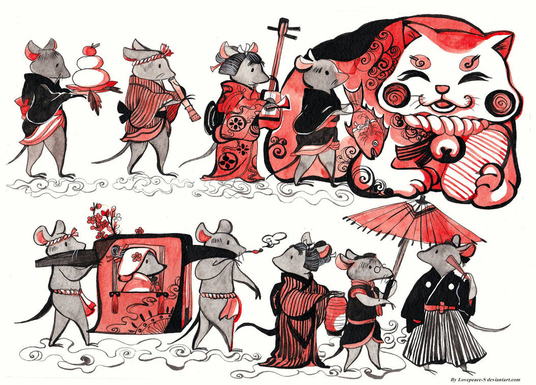 Rat's wedding ( Japan Style ) by Lovepeace-S