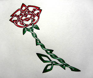 Celtic Rose by BumbleBre