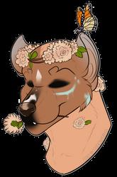 Amelia's Flower Face by phenoxfire