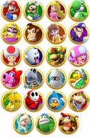 Mario Party Playable Characters by cutiepatootie64