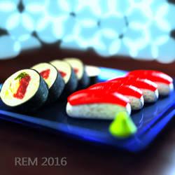 Bokeh Sushi by Pleblu