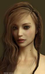 Molly Portrait Iray by Pleblu