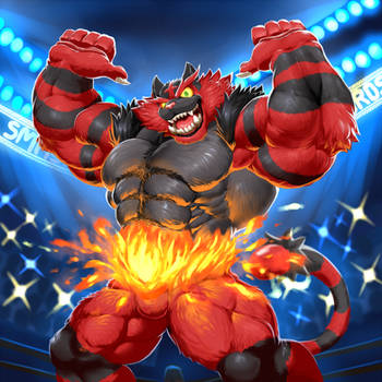 Incineroar Enters the Ring! by TitanDraugen