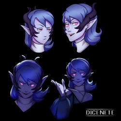 Eiko Celes - Tiefling Bard Expressions by Dicenete