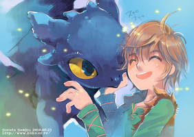 with Hiccup by sorata-s