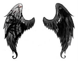 Patch and Nora's wings by BiteMe107x
