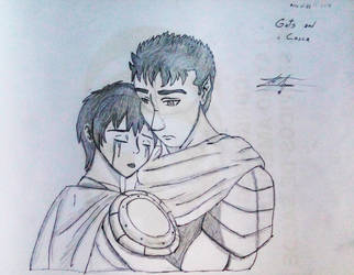 Berserk - Guts and Casca (Sketch) by TonyToriusImages