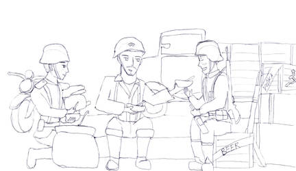 After the Battle - Heroes and Generals (sketch) by TonyToriusImages