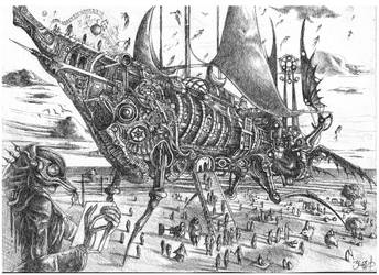 airship thanatos. by Einherja