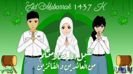 Eid Mubarrak 1437 H by apielang