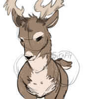 Deer from memory by 5irefly