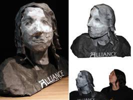 Self Portrait Bust by brandimillerart