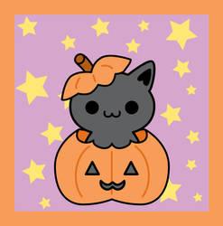 Halloween Kitty by brandimillerart