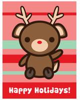 Happy Holidays Reindeer by brandimillerart