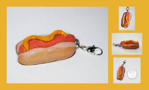 Hotdog Charm by brandimillerart