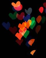 Glowing Hearts by brandimillerart