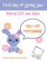 First Day of Spring Sale Flier by brandimillerart