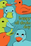 All Ducks Day by brandimillerart