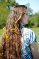 Hair Flowers by brandimillerart