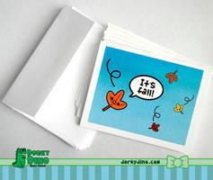 It's Fall Greeting Card by brandimillerart