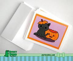 Cat Greeting Card by brandimillerart
