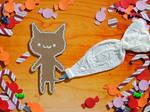 Gingerbread Cat by brandimillerart