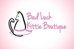 Bad Luck Kittie Boutique Logo by brandimillerart