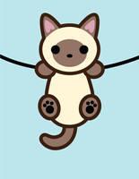 Hanging Kitty by brandimillerart