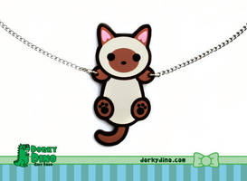 Hanging Kitty Necklace by brandimillerart