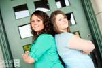 Sisters: Back to Back by brandimillerart