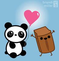 Panda and Pumpkin Pie Bread by brandimillerart