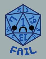 Fail D20 by brandimillerart