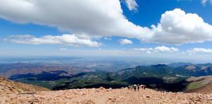 Panorama from Pike's Peak by brandimillerart