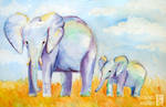 Elephant and Baby by brandimillerart