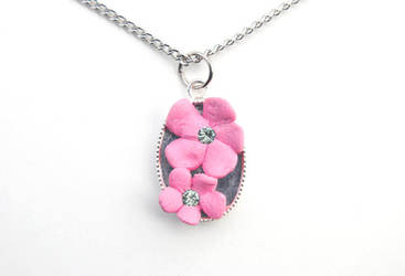 Cherry Blossom Necklace 01 by brandimillerart