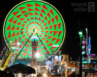 The Ferris Wheel by brandimillerart