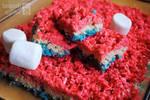Patriotic Rice Krispie Treats by brandimillerart