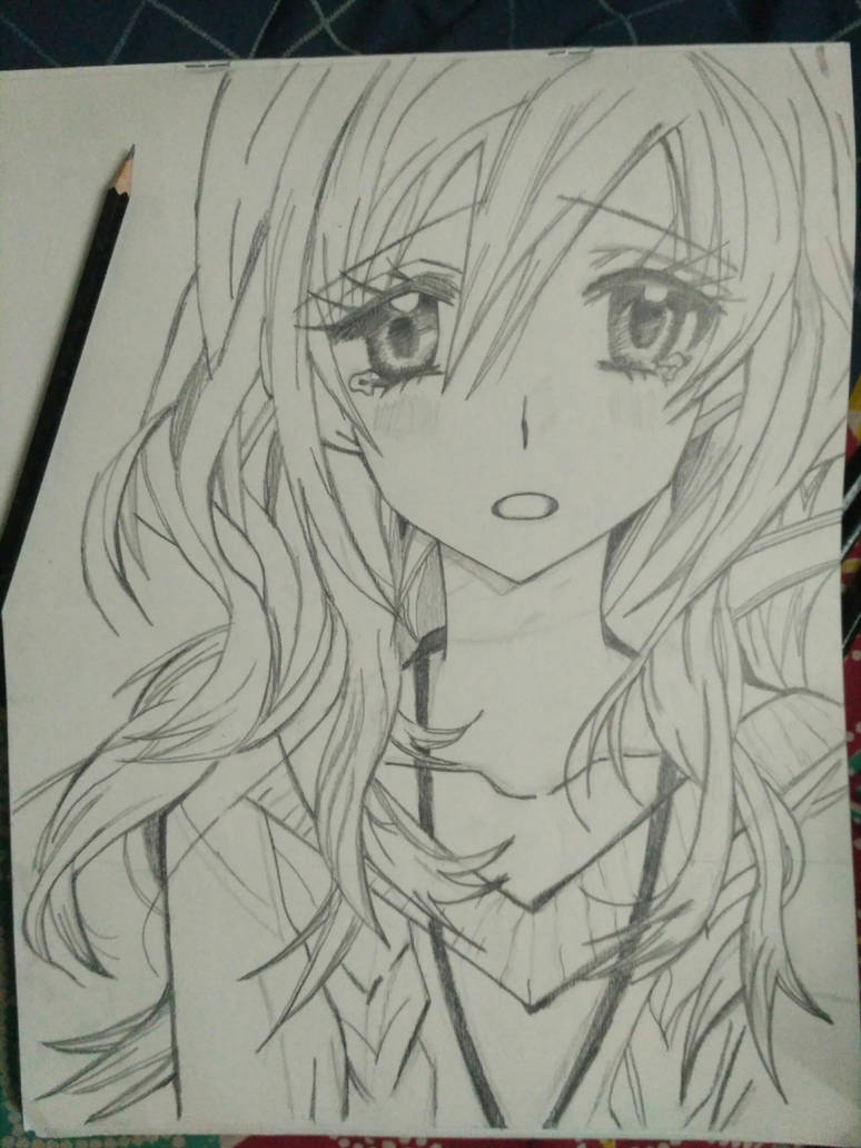 Random anime girl pencil sketch by shashank11
