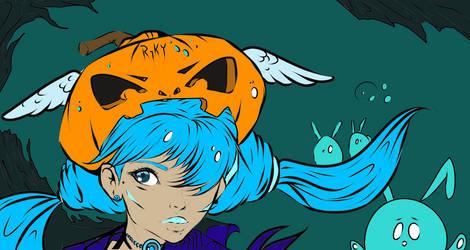 Ryky's Halloween - COLORING CHALLENGE by LoststartravelerZero