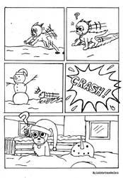 Dog in the Snow by LoststartravelerZero