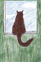 Window Cat by melydia