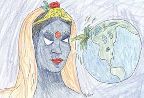 Kali Destroys the World by melydia