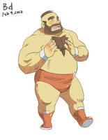 Chubby Zangief by beardrooler
