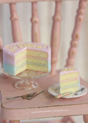 1:12 scale Pastel Vanilla Cake by Almadejonge