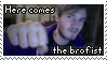 PewDiePie - Here Comes The Brofist Stamp by TwilightProwler