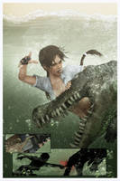 Dead Center - Alligator attack by Shyngyskhan