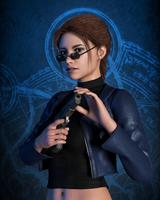 Lara Portrait - Angel of Darkness by Shyngyskhan