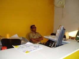 Rleaxed in DHL office by zamir